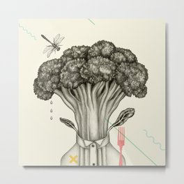 Mr. Broccoli Metal Print