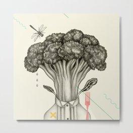 Mr. Broccoli Metal Print