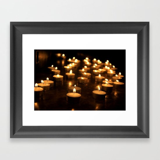 candles Framed Art Print