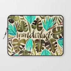 Tropical Wanderlust – Turquoise & Olive Laptop Sleeve