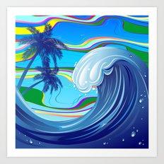 Sea Ocean big Wave Art Print