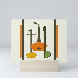 Mid-Century Modern Art Musical Strings Mini Art Print