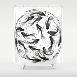 The Fish life Shower Curtain