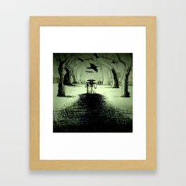 the plague doctor cometh Framed Art Print