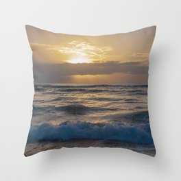 fluffy silky waves Throw Pillow