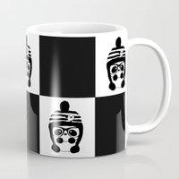 chess Mugs featuring Panda Chess by Panda Cool