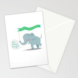 baby elephant birthday Stationery Cards