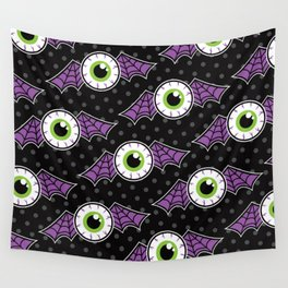 Eyeball Bat Attack Wall Tapestry