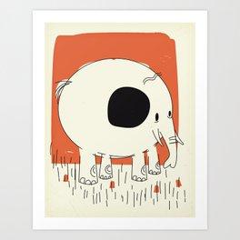 Friendly Little Elephant Art Print