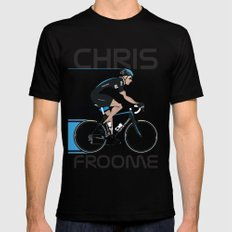 Chris Froome Black Mens Fitted Tee X-LARGE
