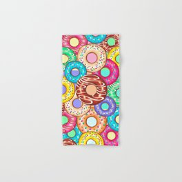 Donuts Punchy Pastel flavours Pattern Hand & Bath Towel