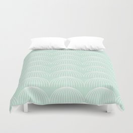 Geometric Umbrellas by Friztin Duvet Cover