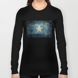 Somalia national flag (officially the Federal Republic of Somalia) Vintage version to scale Long Sleeve T-shirt