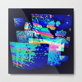 Multiverse in Technicolor Metal Print