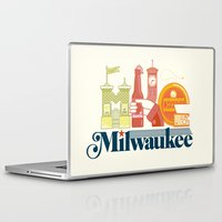 milwaukee Laptop & iPad Skins featuring MKE ~ Milwaukee, WI by Jeremy Pettis