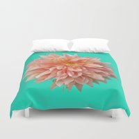 jewish Duvet Covers featuring Flower Petals by Brown Eyed Lady
