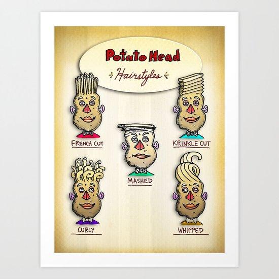Classic Potato-Head Hairstyles Art Print