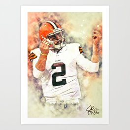 Johnny Manziel Art Print