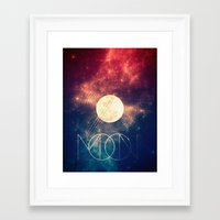 the moon Framed Art Prints featuring Moon by Victor Vercesi