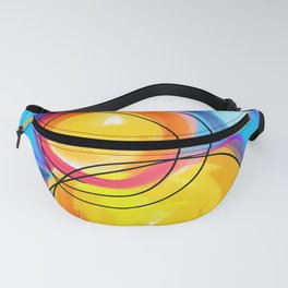 Paint abstract circle Fanny Pack