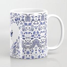 BLUE BIRDS WATERCOLOR - THE GIFT - INDIGO Coffee Mug