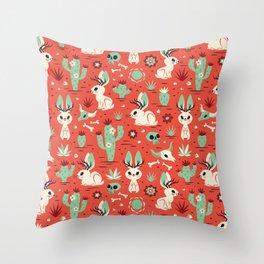 Cryptid Cuties: The Jackalope Throw Pillow