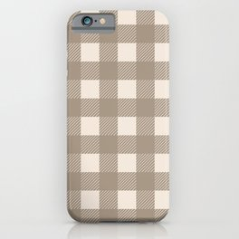 Buffalo Checks in Tan and Cream iPhone Case