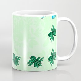 Frame from flowers with background Coffee Mug