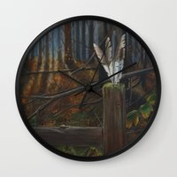 kentucky Wall Clocks featuring Kentucky Feathers by JacquelinePatrice