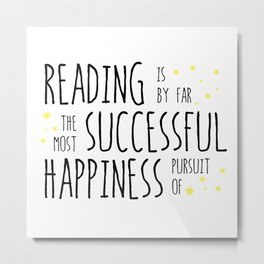 Reading - Successful Pursuit of Happiness Metal Print