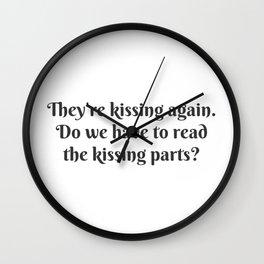 The Kissing Parts Wall Clock