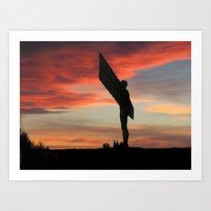 Angelic Evening Art Print