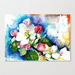 Sakura - Tree Blossom Watercolor Canvas Print