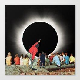 Eclipse Gazers Canvas Print