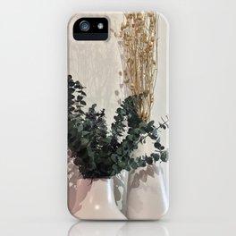 Minimal Floral Vase Arrangement iPhone Case