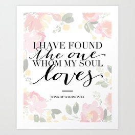 Song of Solomon 3:4 Art Print