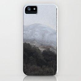 Away, away to the hills and the heart iPhone Case