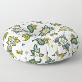 Paisley pattern in earthy colors Floor Pillow