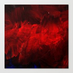 Red And Black Abstract Gothic Glam Chic Canvas Print
