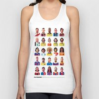 postcard Tank Tops featuring Playmakers by Daniel Nyari