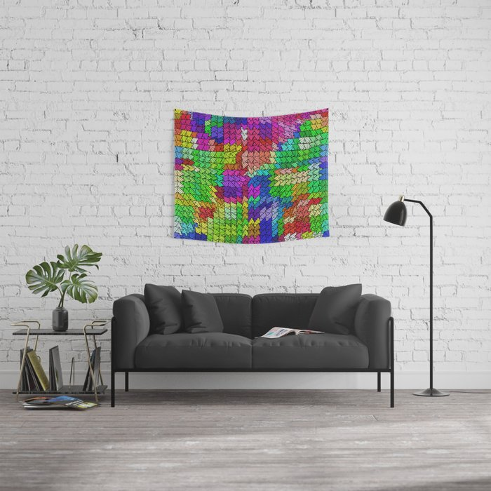 sweeping pattern 01 Wall Tapestry