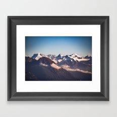 Snowy Peaks Framed Art Print