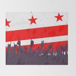 Washington DC Flag with Audience Throw Blanket