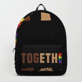 Black Lives Matter Together We Rise Equality Shirt Backpack