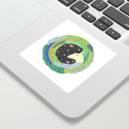 Rainbow Unicorn space monster Sticker