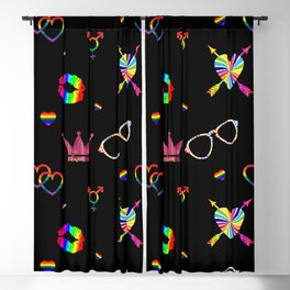 LGBTQ icons pattern Blackout Curtain