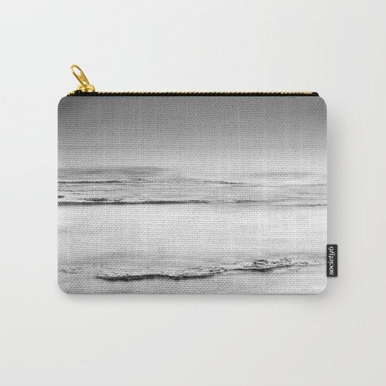 """Foggy beach"". Calm sea at sunset Carry-All Pouch"