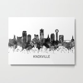 Knoxville Tennessee Skyline BW Metal Print