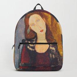 Jeanne Hebuterne woman portrait by Amedeo Modigliani Backpack
