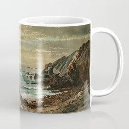 Sunlight through the Clouds over a Rocky Coast by Edmond Darch Lewis Coffee Mug